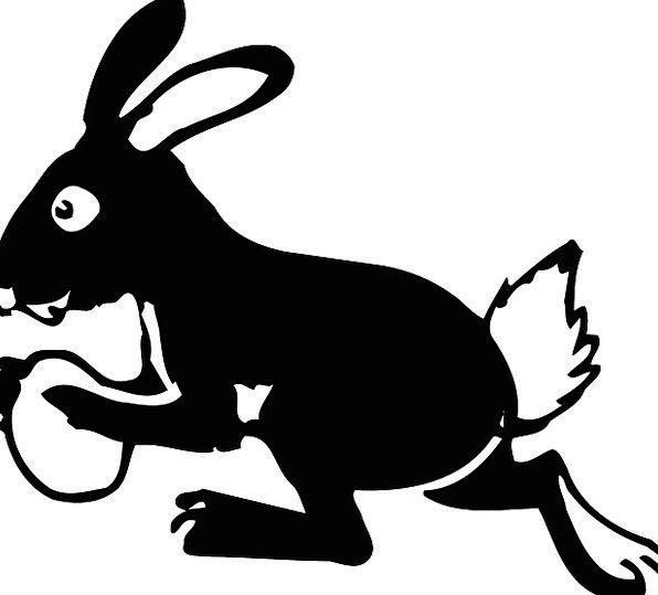 Bunny Rabbit Ovum Running Consecutively Egg Tail E
