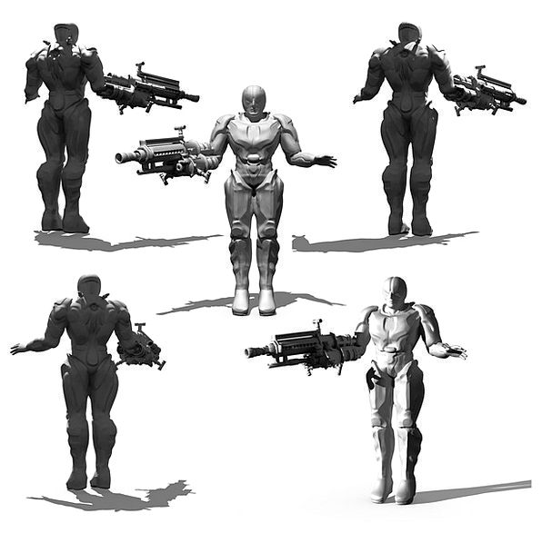 Cyborg Render Reduce Bio Mechanics 3D Model