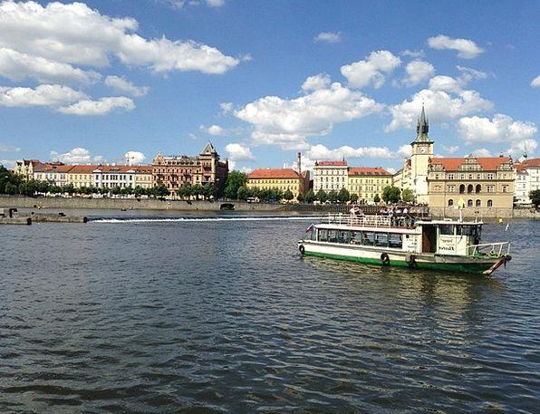 Prague Steamer Vltava River Stream