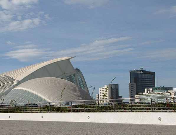 Spain Vacation Travel Modern Building Valencia Bui