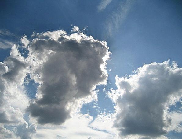 Clouds Vapors Azure Sky Blue Weather Climate Cumul