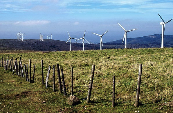 Galicia Landscapes Nature Prado Windmills Renewabl