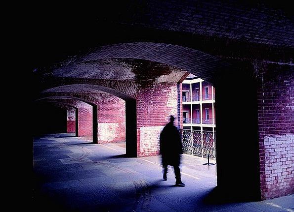 Corridor Strip Gumshoe A Person Anyone Shadow