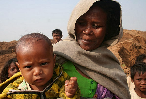 Mother Ma Youngster Rajasthan Child Travel Portabl