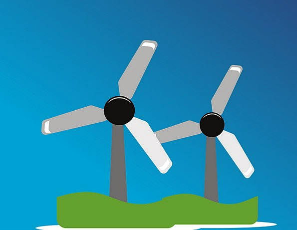 Wind Farm Landscapes Nature Wind Park Windpower Po