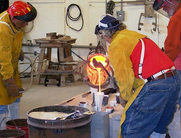 Molten Melted Figurine Cast Company Bronze Fire Ir