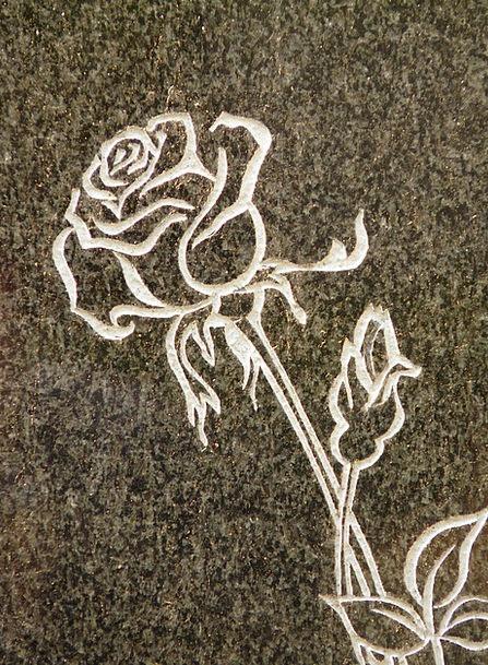 Rose Design Landscapes Gravestone Nature Spiny Bar