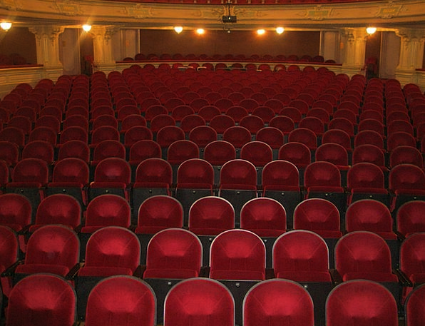 Theater Playhouse Orchestra Audience Spectators Se