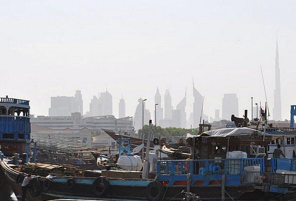 Dubai Skyline Horizon Cityscape Emirates Countries