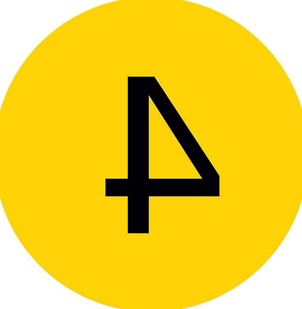 Four 4 Number Icon Fourth Quarter Label 4Th Count