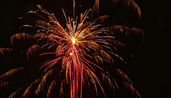 fireworks rockets 3 stage effects