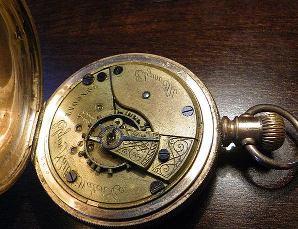 Pocket Watch Timepiece Gold Gilded Watch Antiq Old