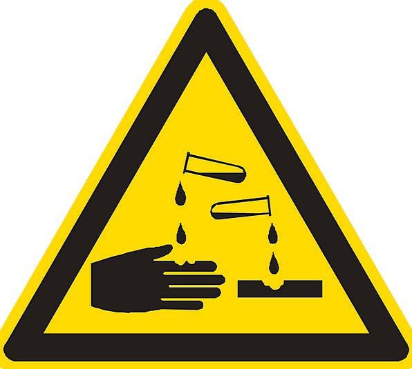 Corrosive Harsh Cutting Warning Cautionary Acid At