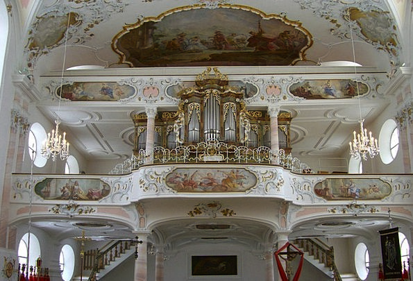 Organ Structure Colonnade Salian Parish Church Gal