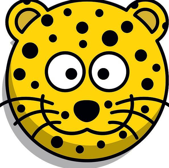 Leopard Skull Grin Beam Head Free Vector Graphics
