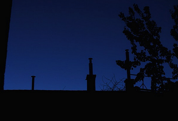 Chimney Funnel Dim At Night Late Dark Nightfall Du