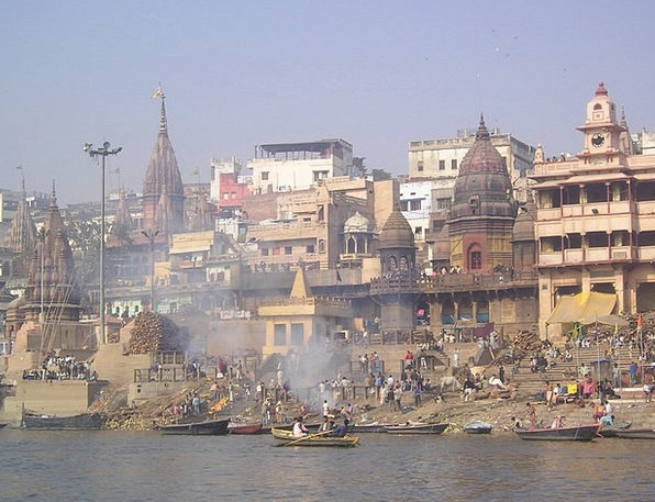 India Holy Consecrated Ganges River Stream Combust