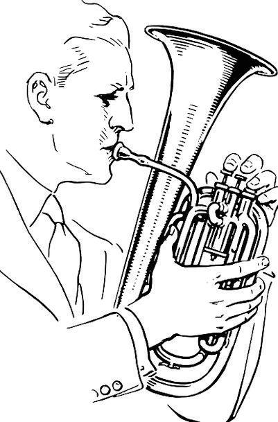 Tuba Actor Musical Melodic Player Free Vector Grap