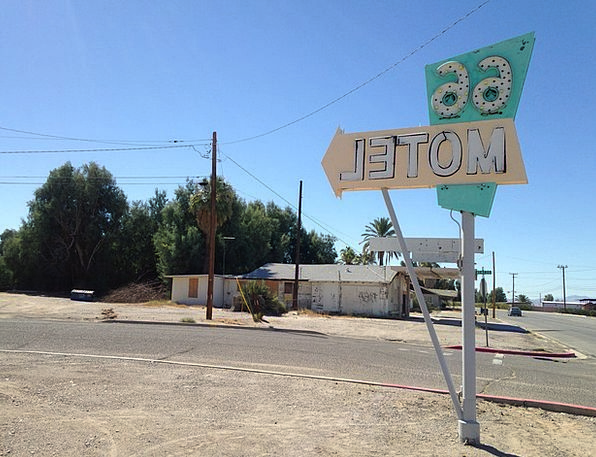 Route 66 Old Ancient Motel Sign Symbol Signpost Di