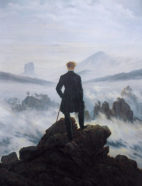 Self Portrait Caspar David Friedrich Wanderer Abov