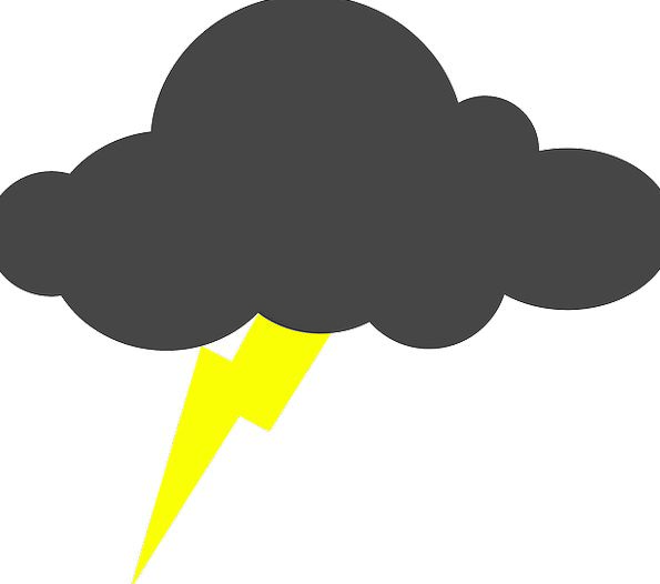 Lightning Fast Vapors Thunderstorm Clouds Severe B