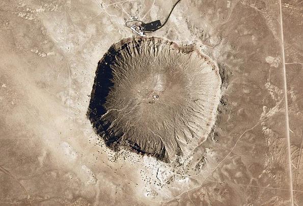 Meteor Fireball Hollow Meteorite Impact Crater Ari