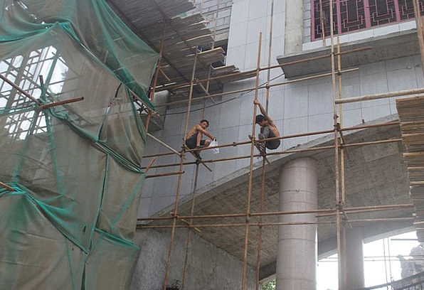 Scaffold Support Platform Stage Scaffolding Worker