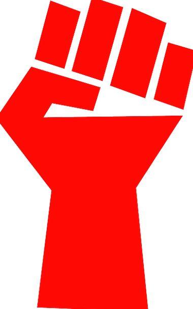 Fist Fistful Bloodshot Communism Collectivism Red