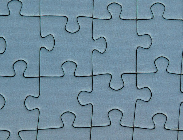 Puzzle Mystery Memory Cards Covered With Pieces Of