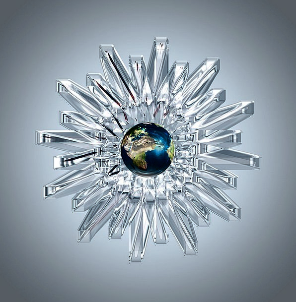 Crystal Mineral Bending Light Bright Refraction Bl