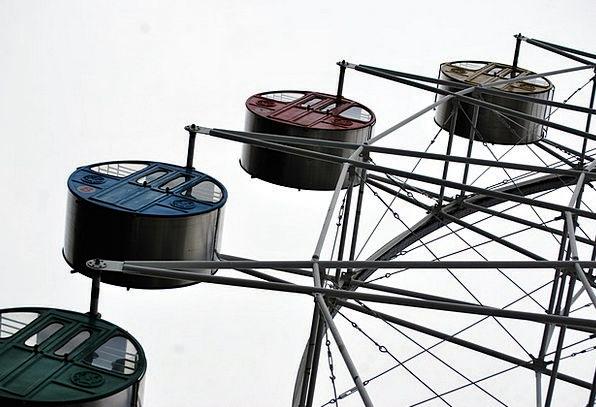 Ferris Helm Ride Trip Wheel Park Common Amusement