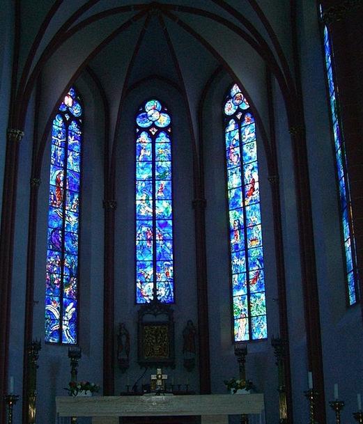 Glass Window Church Window Chagall St Stephan Main