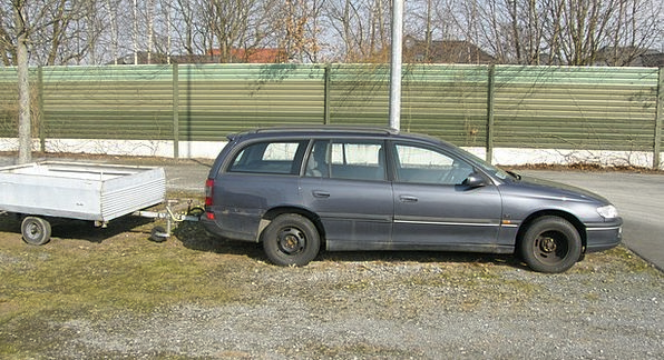 Opel Trailers Clips Omega Auto Car Blue Pkw Dare O