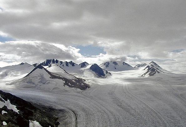 Glacier Landscapes Crag Nature Alaska Mountain Lan