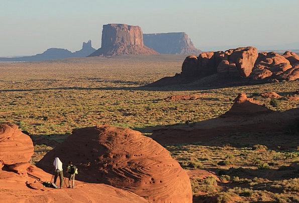Monument Valley Reward Arizona Desert Evening Twil