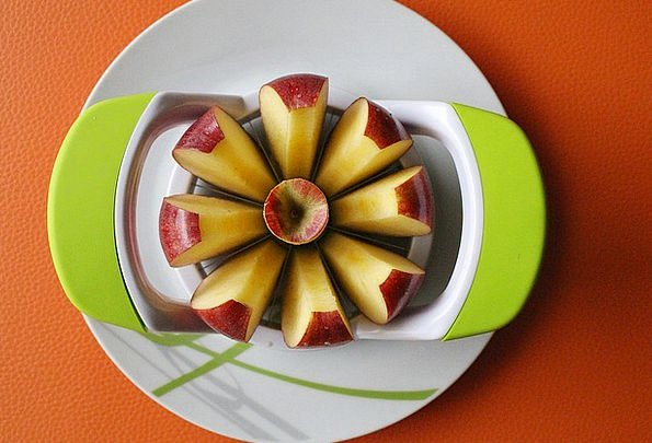 Apple Slices Bowl Apple Decoration Plate