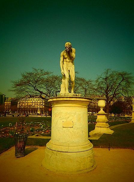 Paris Figurine France Statue Park Common
