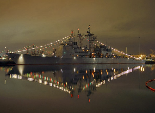 Christmas Lights Beautification Navy Fleet Decorat