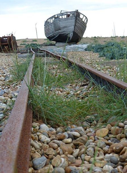 Dungeness England Romney Marsh Train Kent Leave So