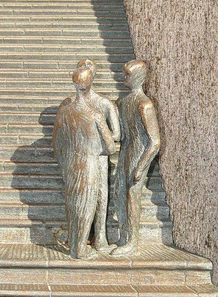 Man Gentleman Staircases Sculpture Statue Stairs G