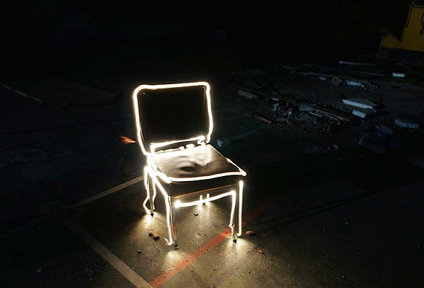 Lightpainting Chairperson Light Bright Chair Shado