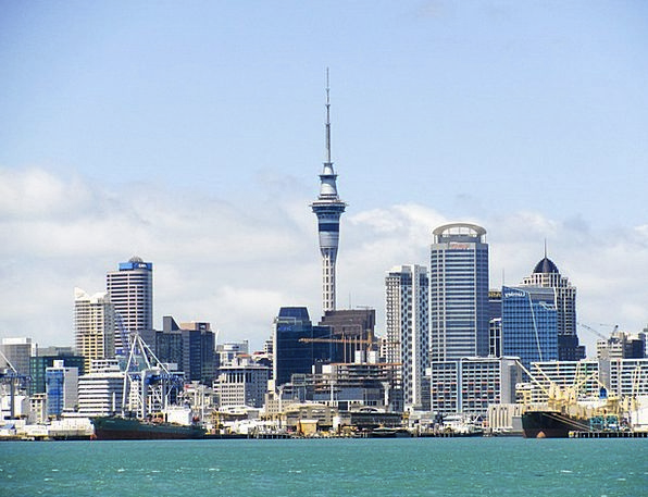 New Zealand Horizon Auckland Skyline Sky Tower Tow