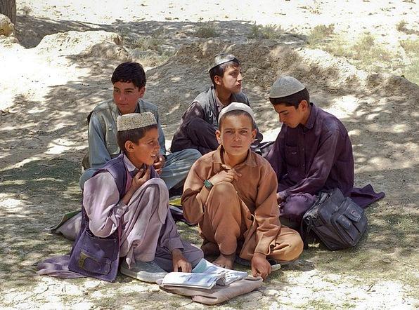 Boys Lads Bamozai Schoolboys Afghanistan School Mu