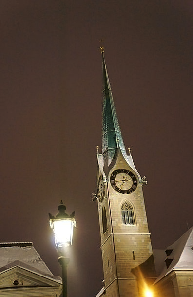 Zurich Nightly Church Ecclesiastical Night Clock T