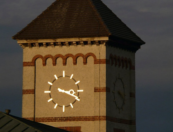 Clock Timepiece Time Period Clock Tower Golden Tim