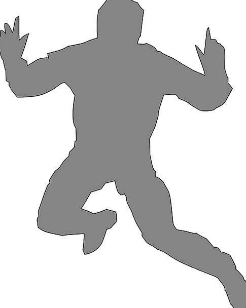 Man Gentleman Hopping Leaping Jumping Hands Hands