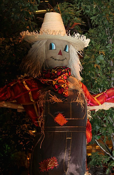 Scarecrow Figure Grass Hat Cap Straw Horror Hallow