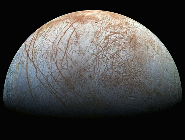 Jupiter Moon Icy Freezing Europa Space Interplanet