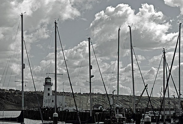 Harbor Port Landscapes Nature England Scarborough