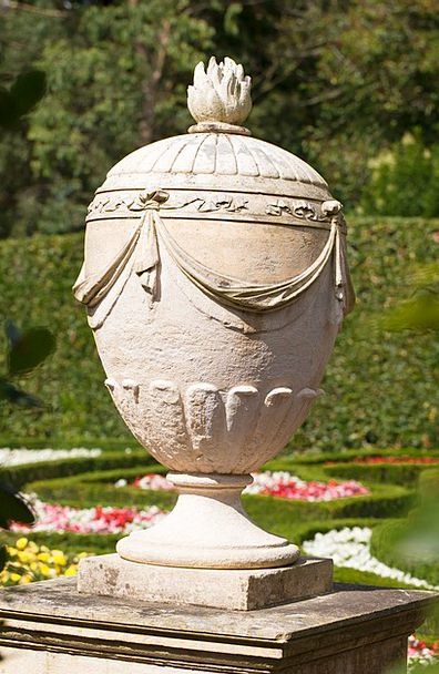 Urn Vase Pebble Old Cemetery Stone Socket Historic